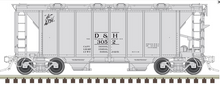 Atlas O D&H ACF 34' AC-2 Covered Hopper car, 3 rail or 2 rail