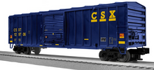 Lionel / Weaver CSX  50' modern box car, 3 rail or 2 rail diecast trucks/couplers
