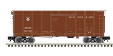 Atlas O (weaver) B&O (brown, small letters)  40' wagon top box  car