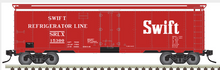 Atlas O Swift (red) 40' steel reefer, 3 rail or 2 rail