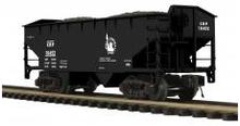 MTH Premier CRP (Jersey Central) 2-Bay Offset Hopper w/Coal Load, 3 rail