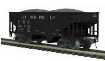 MTH Premier Clinchfield 34' Composite Hopper w/Coal Load, 3 rail