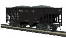 MTH Premier Clinchfield 34' Composite Hopper w/Coal Load, 3 rail