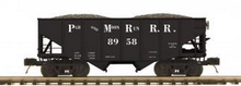 MTH Premier Pittsburgh&Moon Run 2-Bay Fishbelly Hopper w/Coal Load, 3 rail