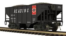 MTH Premier Reading 2-Bay Fishbelly Hopper w/Coal Load, 3 rail
