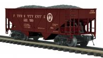 MTH Premier Pennsylvania 34' Composite Hopper w/Coal Load, 3 rail