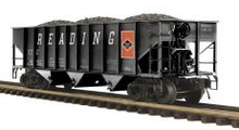 MTH Premier Reading 3-bay 40' Ribbed Side Hopper Car, 3 rail