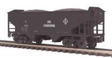 MTH Premier Erie Lackawanna 2-Bay Offset Hopper w/Coal Load, 3 rail