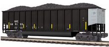 MTH Premier CSX/NYC Bathtub Gondola w/ Coal Load, 3 rail