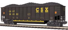 MTH Premier CSX Bathtub Gondola w/ Coal Load, 3 rail