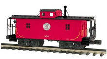 MTH Premier P&WV N-6B style wood caboose, 3 rail