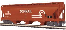 MTH Premier Conrail 3-Bay Centerflow Covered Hopper, 3 rail