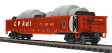 MTH Premier CP Rail Mill Gondola Car w/ Coil Steel Load, 3 rail