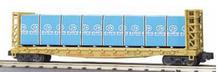 MTH Premier UP 50' Bulkhead Flat Car w/ Sheetrock Load, 3 rail