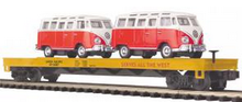 MTH Premier Union Pacific Flatcar with VW Buses, 3 rail