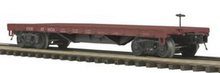 MTH Premier PRR  50-ton 41' Flatcar, 3 rail