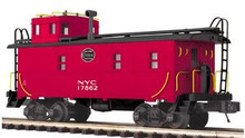 MTH Premier NYC rivited steel offset cupola Caboose , 3 rail