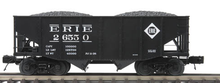 MTH Premier Erie 2-Bay Fishbelly Hopper w/Coal Load, 3 rail