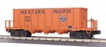 MTH Premier Western Pacific Rapid Discharge  hopper Car w/ Rock Load, 3 rail