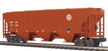 MTH Premier BNSF PS-2CD  High-Sided Hopper, 3 rail