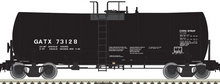 Atlas O GATX (plain jane black) 17,600 gal tank car, 3 rail