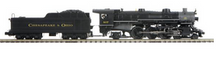 MTH Premier C&O Heavy Pacific  steam loco, 3 rail, P3.0, smoke, cruise