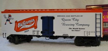 MTH Premier Old German Beer 36' wood reefer, 3 rail
