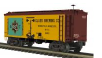 MTH Premier Gluek Beer 36' wood reefer, 3 rail