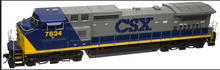 Atlas O CSX Dash 8-40CW, 3r, tmcc, smoke, cruise,