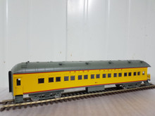 Golden Gate Depot UP yellow 70' harriman 4 car set ,  3 rail