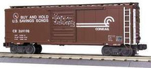 MTH Premier Conrail 40' Single Door Box car, 3 rail