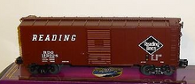 MTH Premier Reading 40' AAR Single Door box car, 3 rail