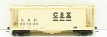 Atlas O CSX (early scheme) Airslide Covered Hopper, 3 rail or 2 rail