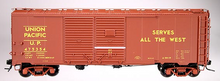 Atlas O  UP (stripe on door) 1937 style AAR 40' steel Double Door box car, 3 rail or 2 rail