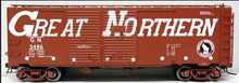 Atlas O  GN (large letters) 1937 style AAR 40' steel Double Door box car, 3 rail or 2 rail