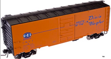 Atlas O CE&I (orange) 1937 style (1930's-60's) AAR 40' Steel Box car
