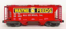 Weaver special run Wayne Feeds 34' PS-2 covered hopper car (yellow letters)