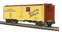 MTH Premier Burlington (CB&Q) 40'  Steel (bunker) Reefer,  3 rail