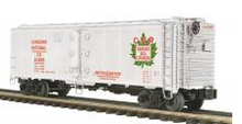 MTH Premier CN Maple leaf 40'  Steel (bunker) Reefer,  3 rail