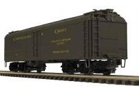 MTH Premier C&O R50B style  express  reefer, 3 rail