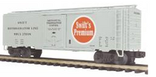 MTH Premier Swift Premium 40' Plug Door Reefer, 3 rail
