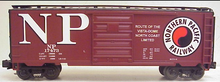 MTH Premier NP 40' steel Box car, 3 rail