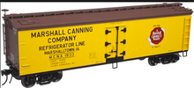 Atlas O Marshall Canning 40' wood reefer, 3 rail or 2 rail