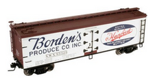 Atlas O Bordens Produce 40' wood reefer, 3 rail or 2 rail