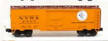 MTH Premier NYC (early Bird)  40' Plug Door Reefer (bunkerless) 3 rail