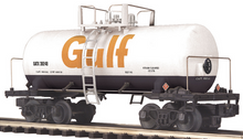 "MTH Gulf 8000 gallon ""Beer Can"" Tank Car, 3 rail"