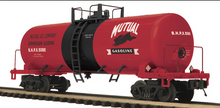 MTH Premier Mutual Gasoline 40' modern Tank Car, 3 rail