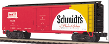 MTH Premier Schmidts Beer 40' Plug Door (bunkerless) Reefer, 3 rail