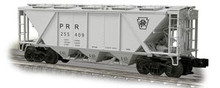 Weaver PRR H30 covered hopper (gray, plain keystone), 2 rail or 3 rail