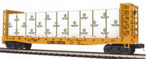 MTH Premier IC 50'  Bulkhead Flat Car w/ wrapped lumber Load, 3 rail